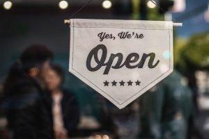 an Open business sign