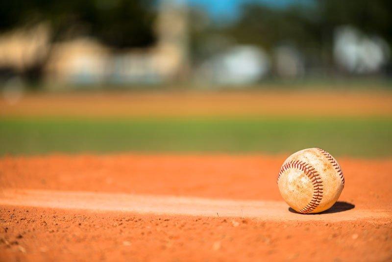 baseball on pitch
