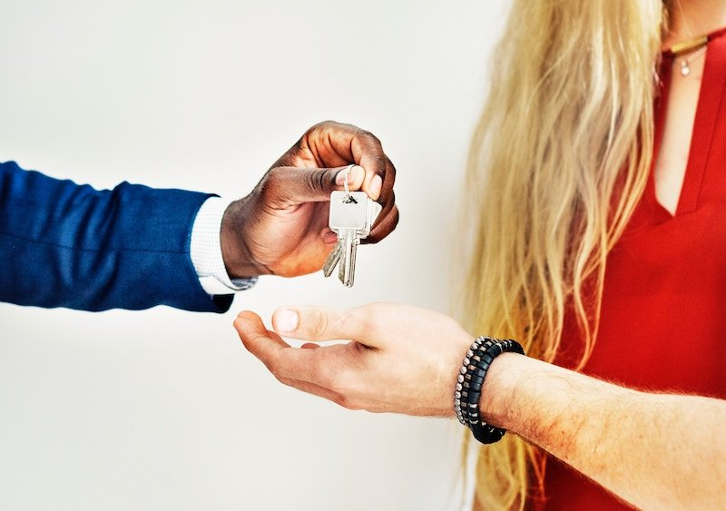 handing over keys to buyers