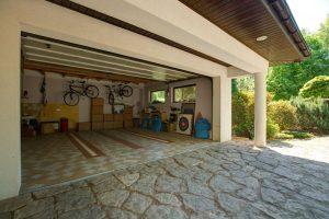 an open garage