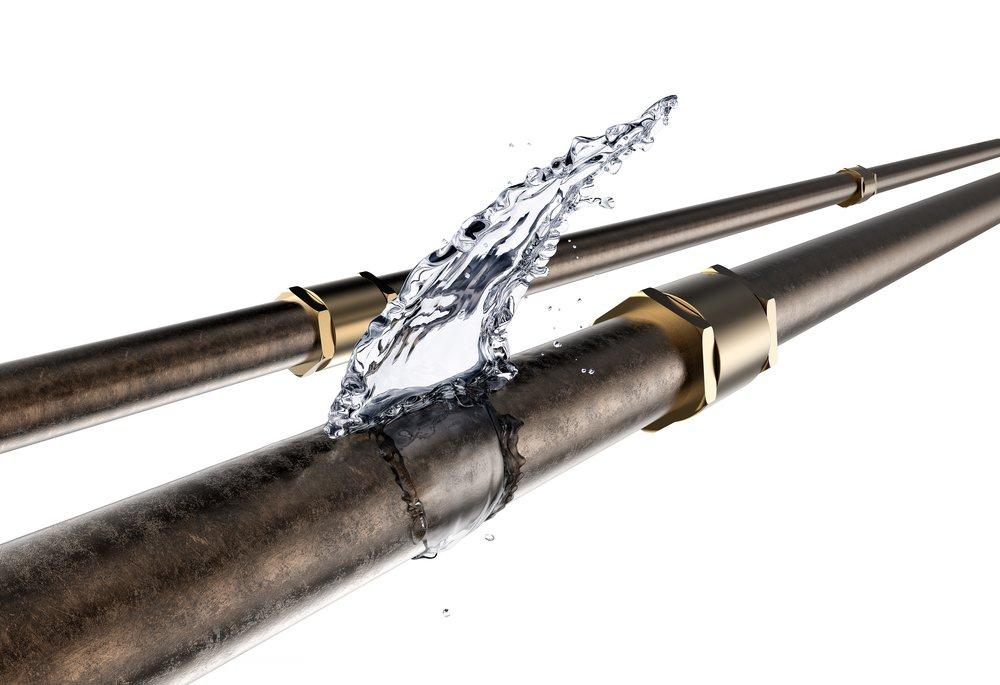 Frozen water pipe burst
